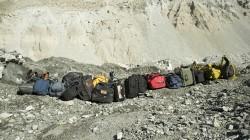 Arriving at Everest Basecamp